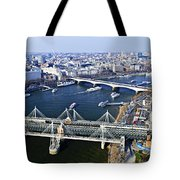 Hungerford Bridge Seen From London Eye Tote Bag