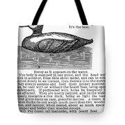 Hunting: Duck Decoy, 1895 Tote Bag