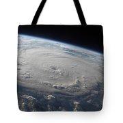 Hurricane Felix Over The Caribbean Sea Tote Bag
