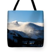 Illuminated Winter Landscape By The Sun Tote Bag