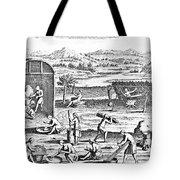 Iroquois Village, 1664 Tote Bag