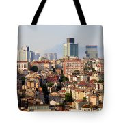 Istanbul Cityscape Tote Bag