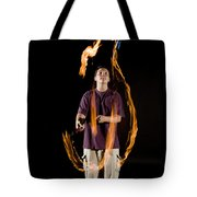 Juggling Fire Tote Bag