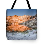 June Snowfall At Angel Lake Tote Bag