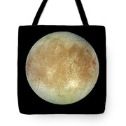 Jupiters Ice-covered Satellite, Europa Tote Bag