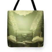 Lady With A Chest Tote Bag by Joana Kruse