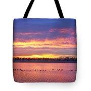 Lagerman Reservoir Sunrise Tote Bag