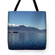Lake With Snow-capped Mountain Tote Bag