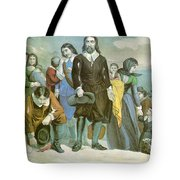 Landing Of The Pilgrims At Plymouth Tote Bag