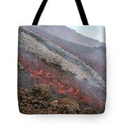 Lava Flow During Eruption Of Mount Etna Tote Bag