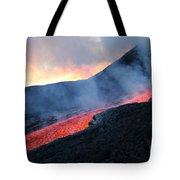 Lava Flowing From Base Of Hornito Tote Bag