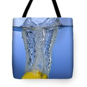 Lemon Dropped In Water Tote Bag