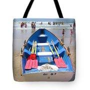Lifeguard Boat At Ocean City Boardwalk New Jersey Tote Bag