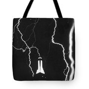 Lightning Strikes Empire State Tote Bag