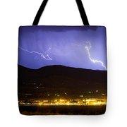 Lightning Striking Over Ibm Boulder Co 2 Tote Bag