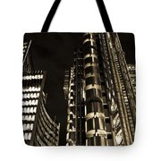 Lloyds Building London In Gold Tote Bag