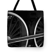 Locomotive Wheels Tote Bag