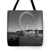 London Skyline Edf Eye Bw Tote Bag