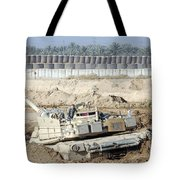 M1 Abrams Tank Is Bogged When Trying Tote Bag