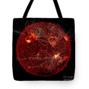 Magnetic Field Lines On The Sun Tote Bag