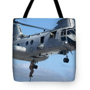 Marines Fast Rope From A Ch-46 Sea Tote Bag