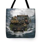 Marines Navigate An Amphibious Assault Tote Bag