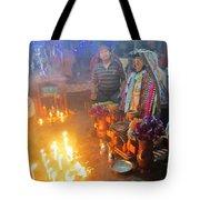 Maximon Ceremony In Guatemala Tote Bag