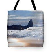 Mc-130p Combat Shadow Dropping Flares Tote Bag