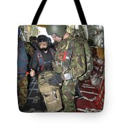 Members Of The Pathfinder Platoon Wait Tote Bag
