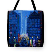 Midnight Drizzle Tote Bag