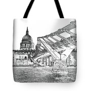 Millenium Bridge And St Pauls Tote Bag