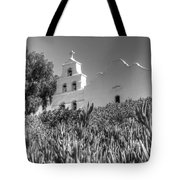 Mission San Diego De Alcala Monochrome Tote Bag