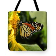Monarch And The Sunflower Tote Bag