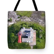 Monomoy Light At Monomoy Wildlife Refuge In Chatham On Cape Cod Tote Bag