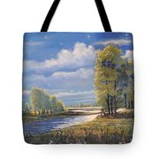 Moonlight On Clear Creek Tote Bag
