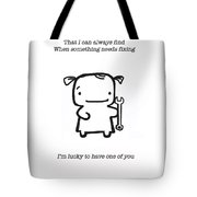 Most Useful Tool Tote Bag by Leanne Wilkes
