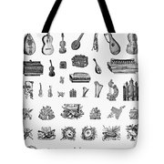 Musical Instruments Tote Bag by Granger