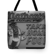 Nathan's Famous In Black And White Tote Bag