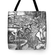 Native American Indians Camouflaged Tote Bag by Photo Researchers