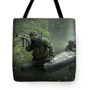 Navy Seals Navigate The Waters Tote Bag