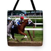 Neck And Neck At Saratoga One Tote Bag