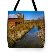 New England Farm In Autumn Scenery Tote Bag