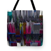 New York City In Space Tote Bag