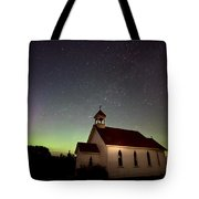 Night Church Northern Lights Tote Bag