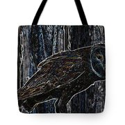 Night Owl - Digital Art Tote Bag