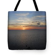 Observation Tower Sunset  Tote Bag