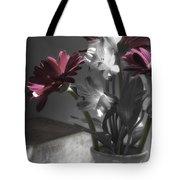 Pink Gerbera Floral Still Life Tote Bag