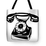 Old Analogue Phone Tote Bag
