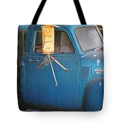 Old Blue Farm Truck Tote Bag