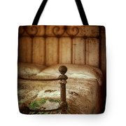 Old Iron Bed Tote Bag